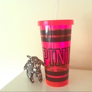 Victoria Secret Pink Tumblr Cup and mini dog NWT